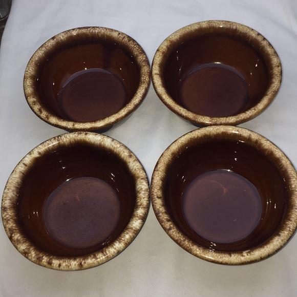 "Vintage Other - Vintage Hull Brown Drip Glazed 5.25"" Bowls"